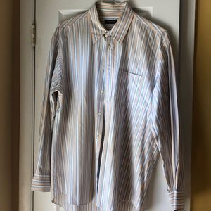 Canali Striped (Made in Italy) Dress Shirt XL